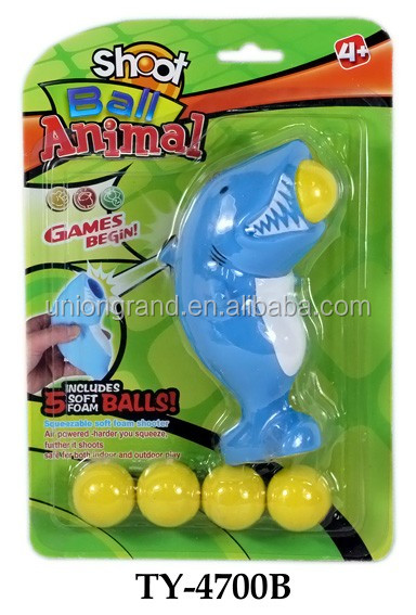 Animal ball shooter in shark shape