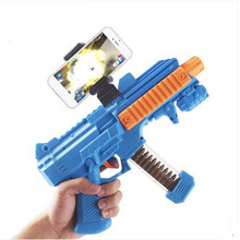 AR Game Gun Three Piece with Cell Phone Stand Holder Portable Plastic AR Toy Game Gun with 3D AR Games