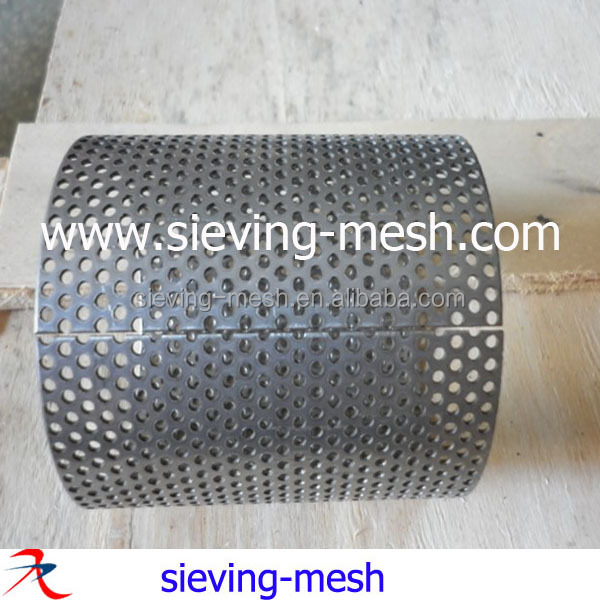 316 304 Stainless steel exhaust perforated tube for water filtering, ss filter wire net tubes