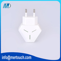 LED light 5V 2.1A EU USA Plug AC Travel Dual USB, For iPhone 7 LED wall charger