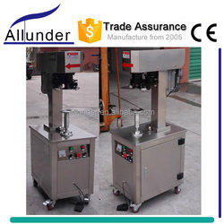Allunder semi automatic aluminum paint can seamer, beverage tin cans sealer, canister sealing machine