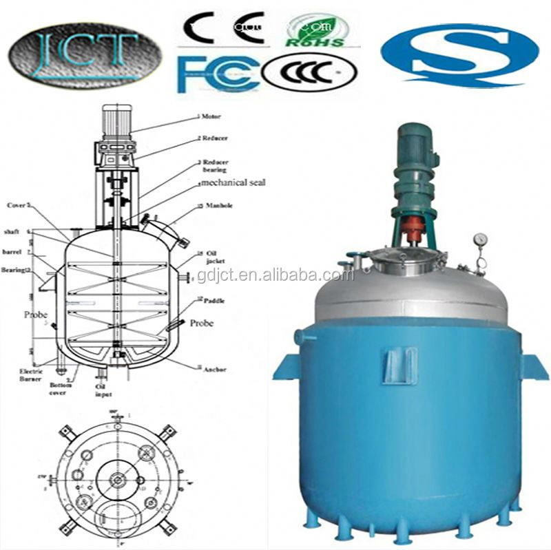 China jacket reactor factory for alkyd resin making