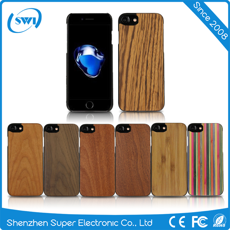 2016 New Arrival Moblie Phone Customized Real Wooden Case Cover For iPhone 7 Plus Back Case Cover From China Suppliers