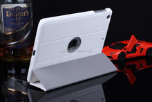 PU Leather Slim Fit Trifold Cover Stand, leather case for ipad 2 3 4 5 6 for ipad mini