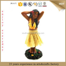 New Hawaiian Hawaii Souvenir Mini Dashboard Doll Hula Girl Posing car dashboard toys dashboard figurines