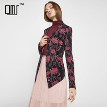 Mellow autumn floral female tailored tuxedo jacket for women