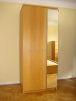 3 doors mirrored PVC wardrobes with dressing table