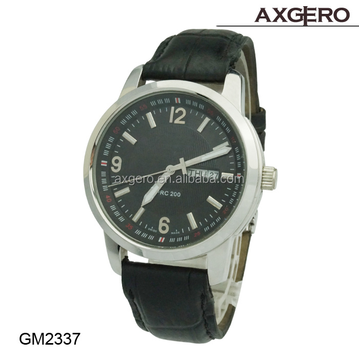 vogue cheap leather alloy watches for man
