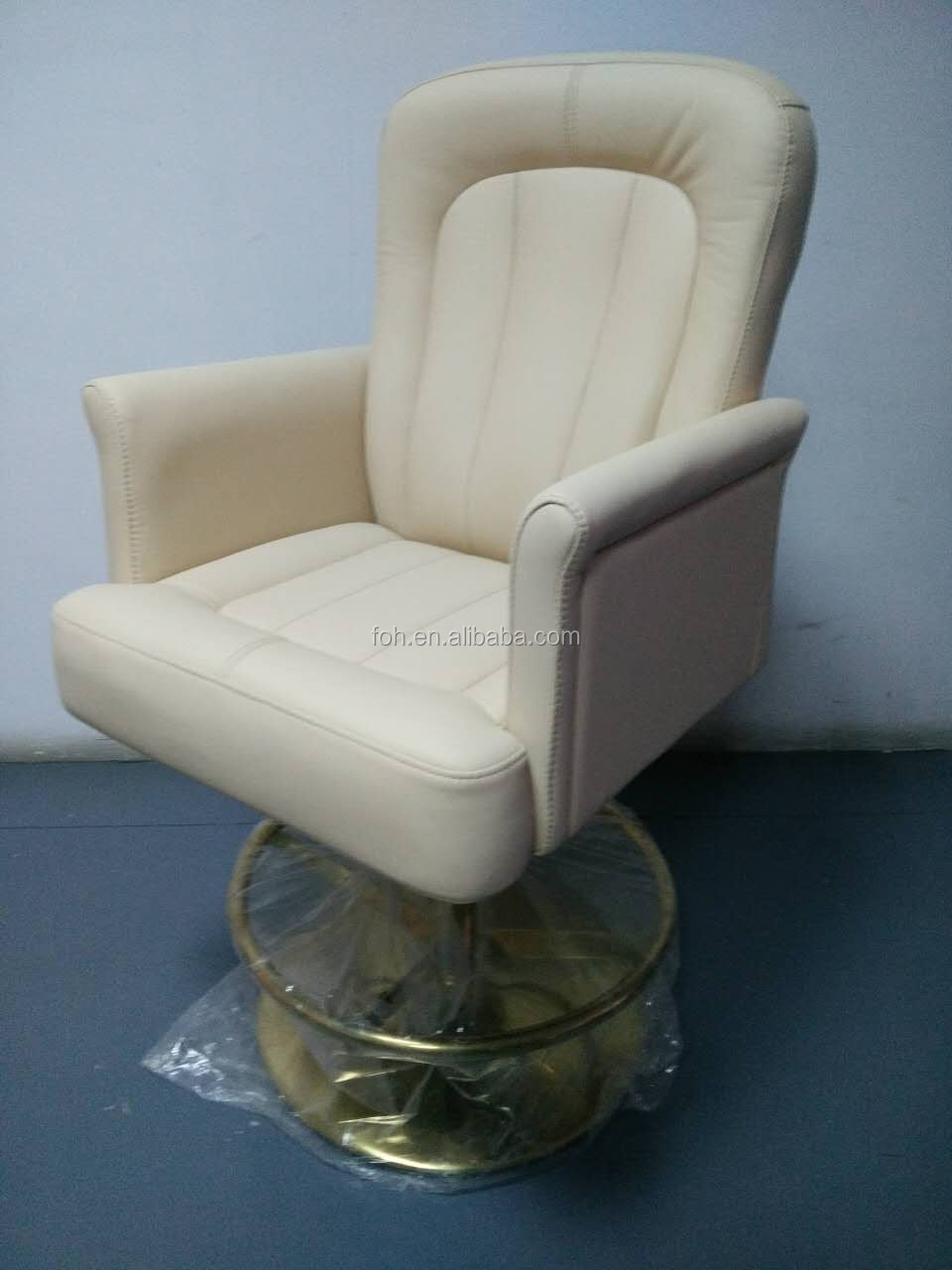 Beige white color Salon Chair Barber Chair Swivel for sale(FOH-F11-B06)