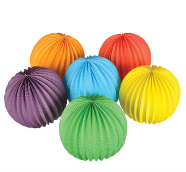 hot foldable round paper lanterns