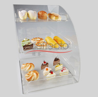 acrylic bakery showcase/3 tier Acrylic food display/acrylic bakery display case