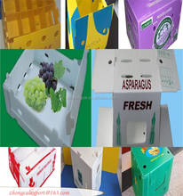 high quality folding plastic handles corrugated boxes / corrugated tote carton