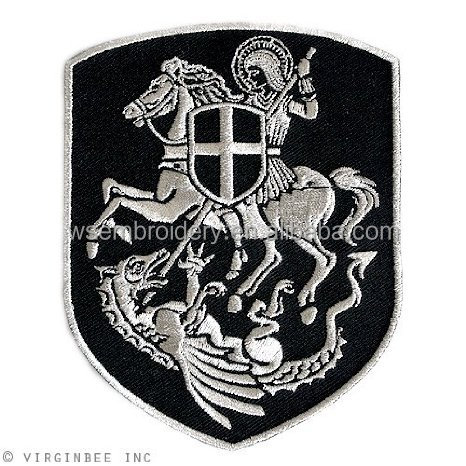 Customed Horse Embroidered Badge/Wappen For Car Logo