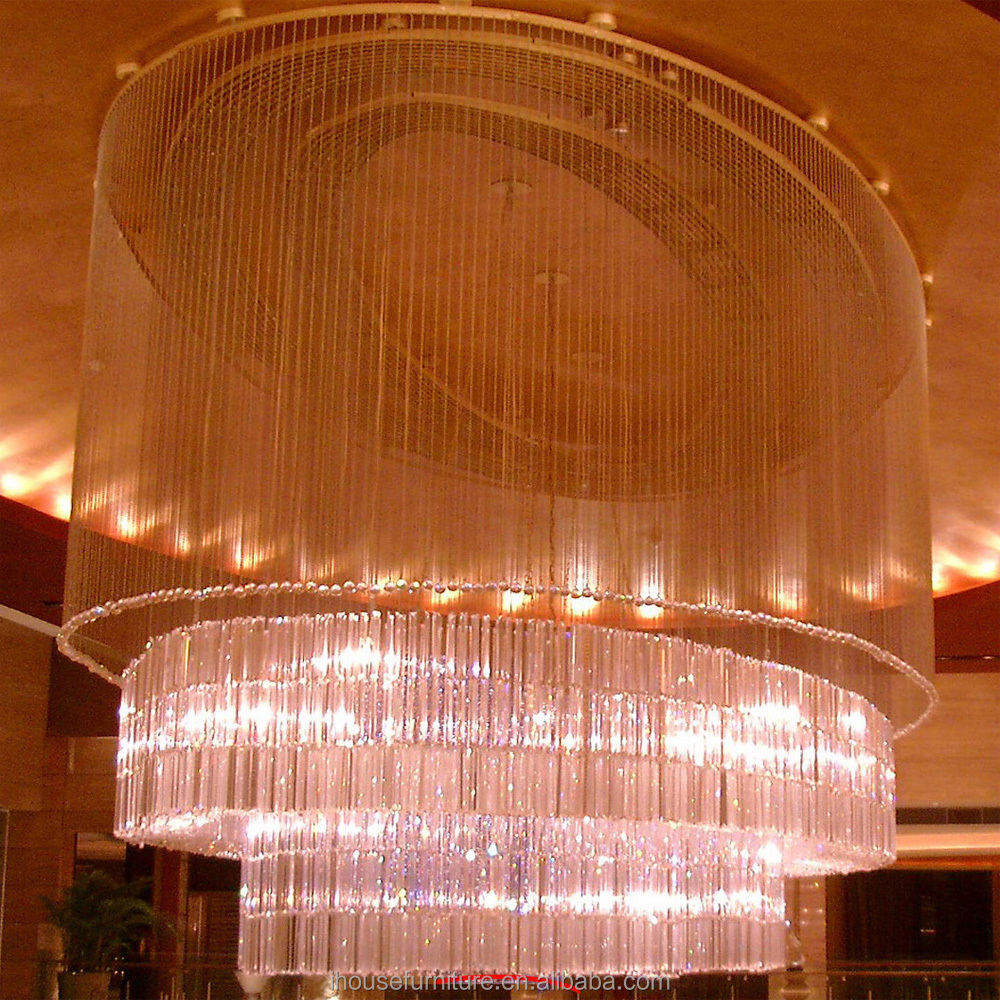 China Top Quality Super Luxurious Big Glass Crystal Lobby Ceiling Pendent Light/Glass Crystal Lamp Ceiling Lobby Hanging