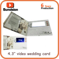 4.3 Inch LCD Video Brochure Card Customized Video Player Brochure Card Company Introduction Video Brochure
