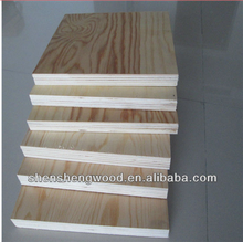 4ft x 8ft sheets 12mm poplar Plywood , Pine core wood veneer plywood sheet