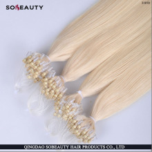 100% Human Hot Selling Unprocessed Tangle Free Factory Price Wholesale Remy Brazilian Micro Links Hair Extensions