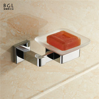 with 20years manufacturer for bathroom accessories chrome finishing square zinc alloy ceramic soap holder