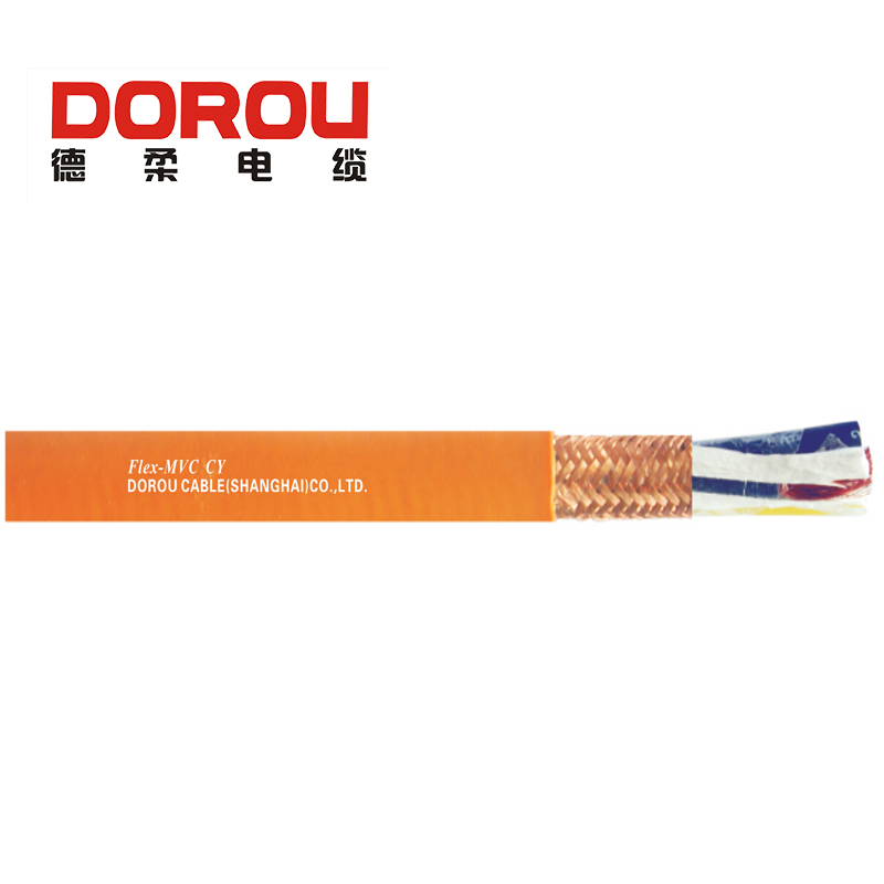 Low voltage copper braid shield servo power cable