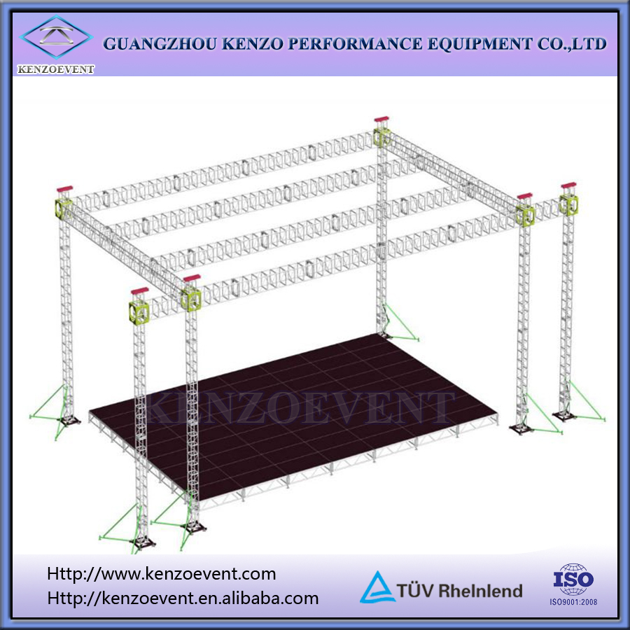 Aluminum scaffolding truss lighting truss system for show for Order trusses online