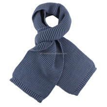 Ladies' acrylic solid color knitted scarf