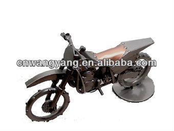 Novelty Metal Motorcycles Toy Handmade Iron Motorcycle Gifts Crafts MTC010