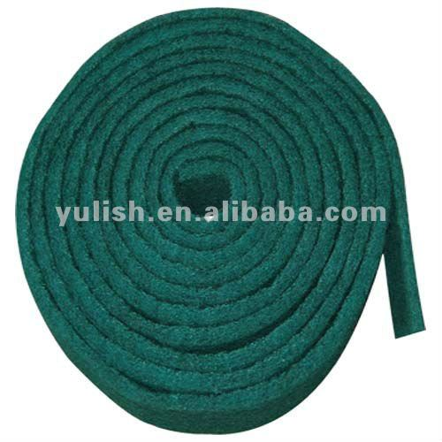 green nylon scouring pad roll