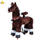 Funtoys best selling outdoor playground wooden rocking horse toy with wheels