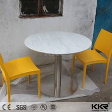 Customize Round Dining Set White Bar Square Mounted Modern Side Wall Stone Top Resin Marble Center Hospital Bedside Table