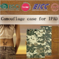 popular camouflage case for IPAD AIR /IPAD 2 3 4 /Ipad mini with magnetic closure