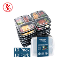 Amazon best sellers Meal Prep Containers 2 Compartment Lunch Boxes Food Storage with Lids,BPA Free Plastic Bento Box