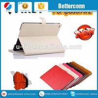 New arrival for iPad 6/Air2 leather Sleep/Wake Smart Cover Folio stand case