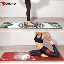 Wholesale sublimation digital printing yoga towel with customized printing designs