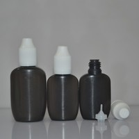 15ml 30ml oval black china baby bottle and long dropper for vape jiuce to UK