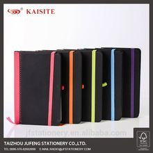 A6 PU elastic notebook with pen holder leather note book