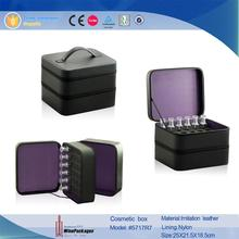 two layer protective eva insert make up box/perfume bottle box with zipper