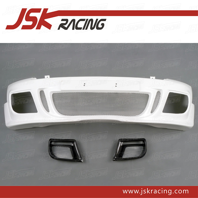 2006-2013 AG STYLE FIBER GLASS FRONT BUMPER+FOG LIGHT COVER FOR BMW MINI COOPER S R56 R57 (JSK080606)
