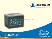 6-dzm-28 battery, electric bike battery 6-dzm-28(12v28ah/10hr). 12v 28ah for solar led street light.