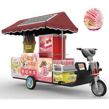 Mobile electric bike popsicle ice cream cart