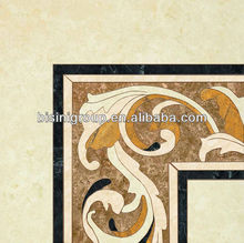 Custom Square Marble Waterjet Inlay in Polished Surface (BF11-1115h)