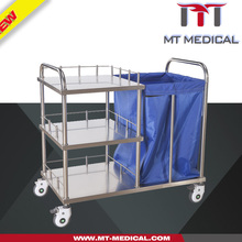Hospital Cleaning linen Trolley dressing Mobile cleaning Cart Dirt linen cart