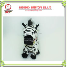 Stuffed DJ Zebra with recording and walking function/plush stuffed animal lovely zebra