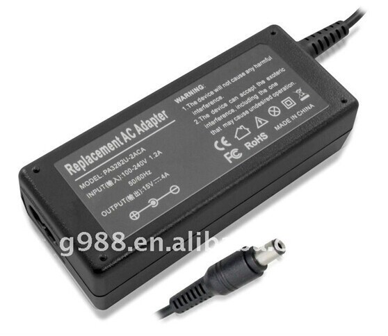 AC Adapter 15V Laptop Power Adapter 4A Laptop Adapter