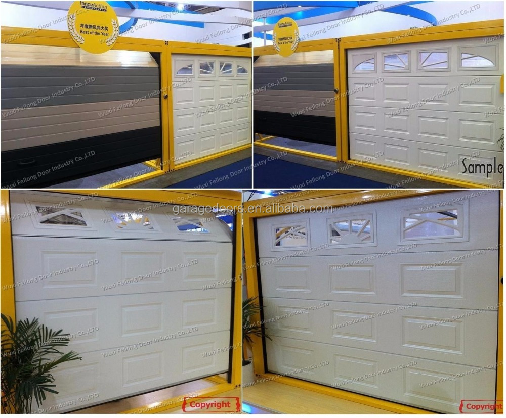Golden Oak Wood Color Steel Garage <strong>Door</strong> --- Remote Control Sectional garage <strong>door</strong>
