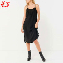 wholesale alibaba black sleeveless casual midi sexy women summer dress