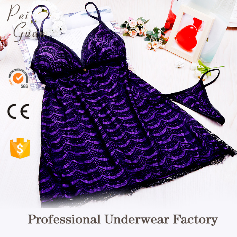 Breathable young girl nightwear sexy night sleeping dress for sale