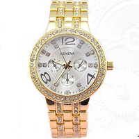 Promotion Geneva Brand Shiny Crystal watch women men fashion dress quartz wrist watch Relogios Femininlo geneva metal watch