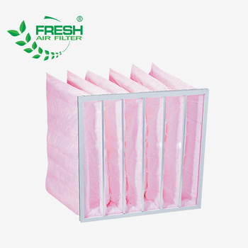 Medium efficiency Non-woven fabric Pocket filter used in painting booth