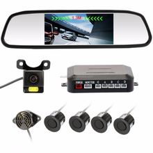 4.3 Inch Rearview Mirror monitor Backup reverse parking sensor with HD night vision Camera parking sensor kit