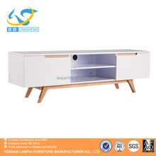 suitableOceanian market modern MDF and solid ash wood TV Stand with 2 racks and 2storeges